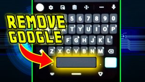 How to remove google from gboard
