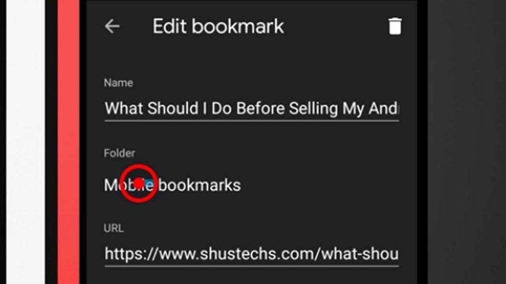 10. edit bookmark android chrome