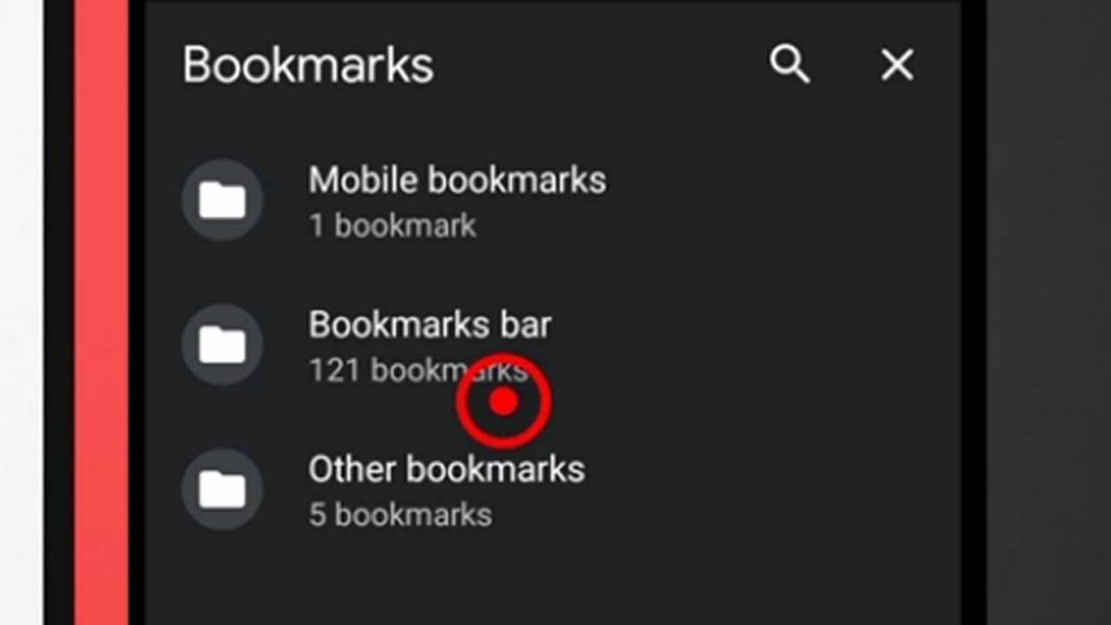 5. bookmarks interface