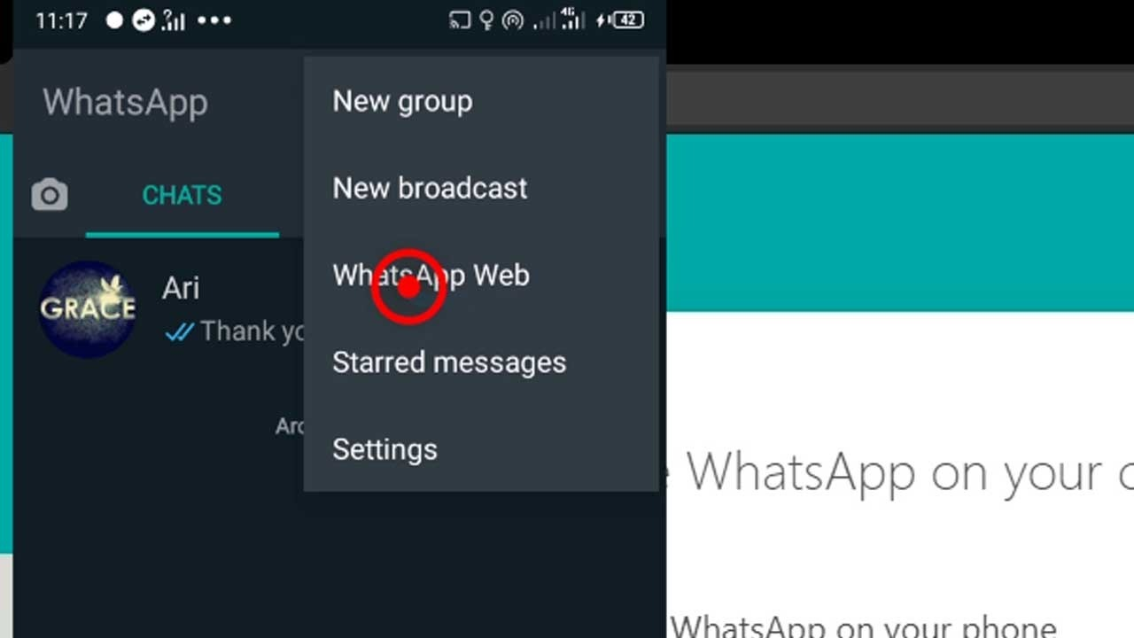 17. whatsapp web