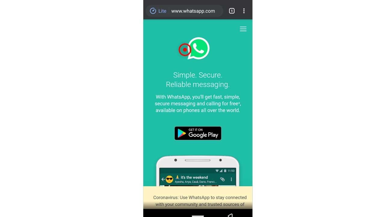 2. web.whatsapp.com on android