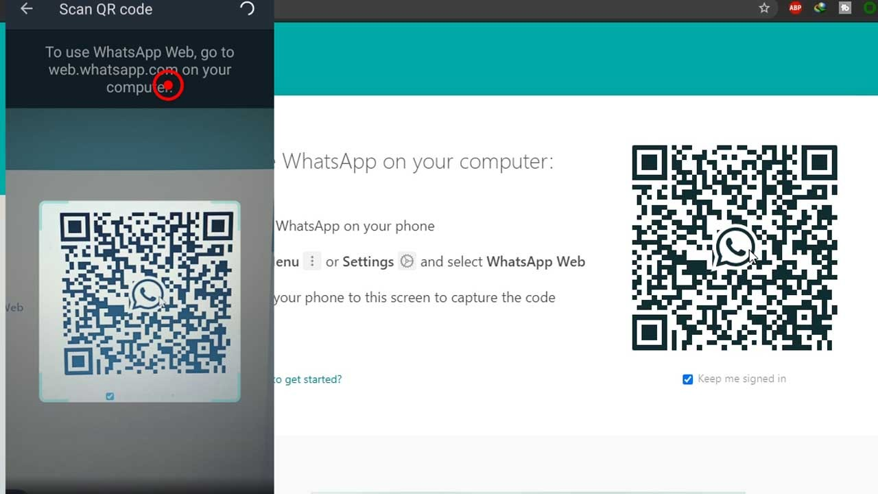 6. scan the code with the android phone