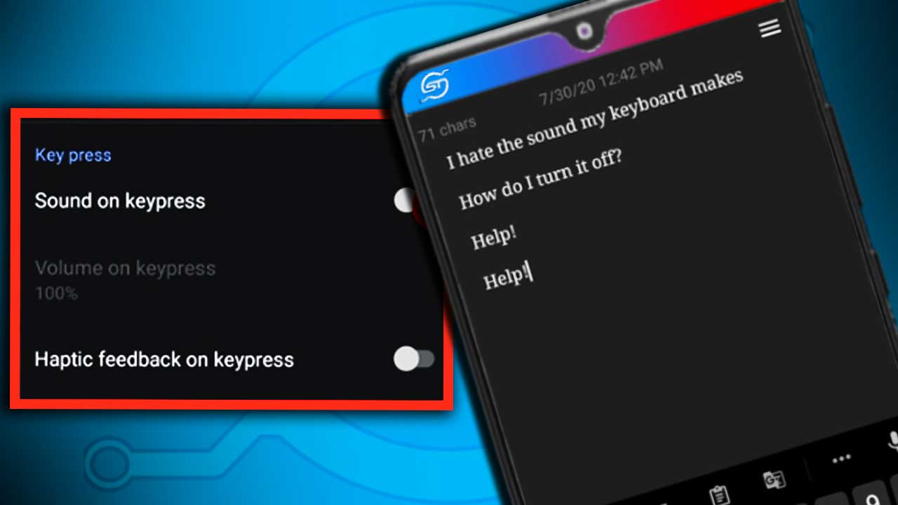 how to turn off keyboard sound on android