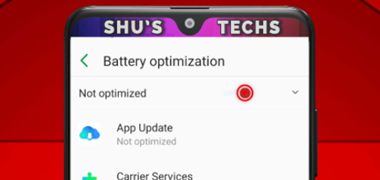 25 battery optimization view all apps