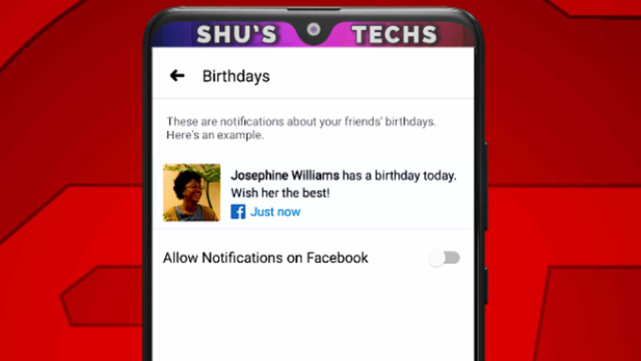 9 facebook birthday notifications disabled