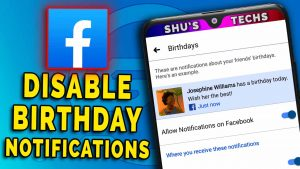 disable birthday notifications on facebook
