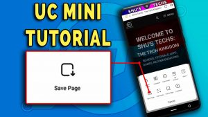 save pages on uc mini